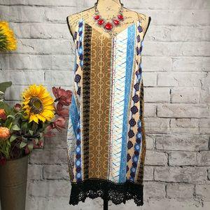 Voom by Joy Han Stunning Crochet Hem Strappy Dress